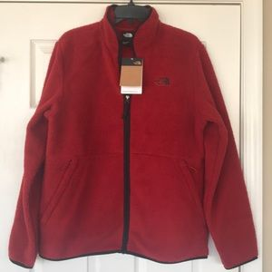 Brand New North Face Sherpa Full Zip Red Jacket